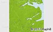 Physical Map of Schleswig-Flensburg
