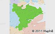 Political Map of Schleswig-Flensburg, lighten