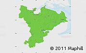 Political Map of Schleswig-Flensburg, single color outside