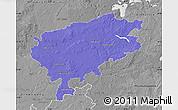 Political Map of Segeberg, desaturated