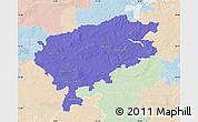 Political Map of Segeberg, lighten