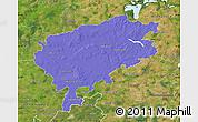 Political Map of Segeberg, satellite outside