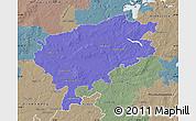 Political Map of Segeberg, semi-desaturated