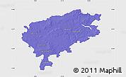 Political Map of Segeberg, single color outside
