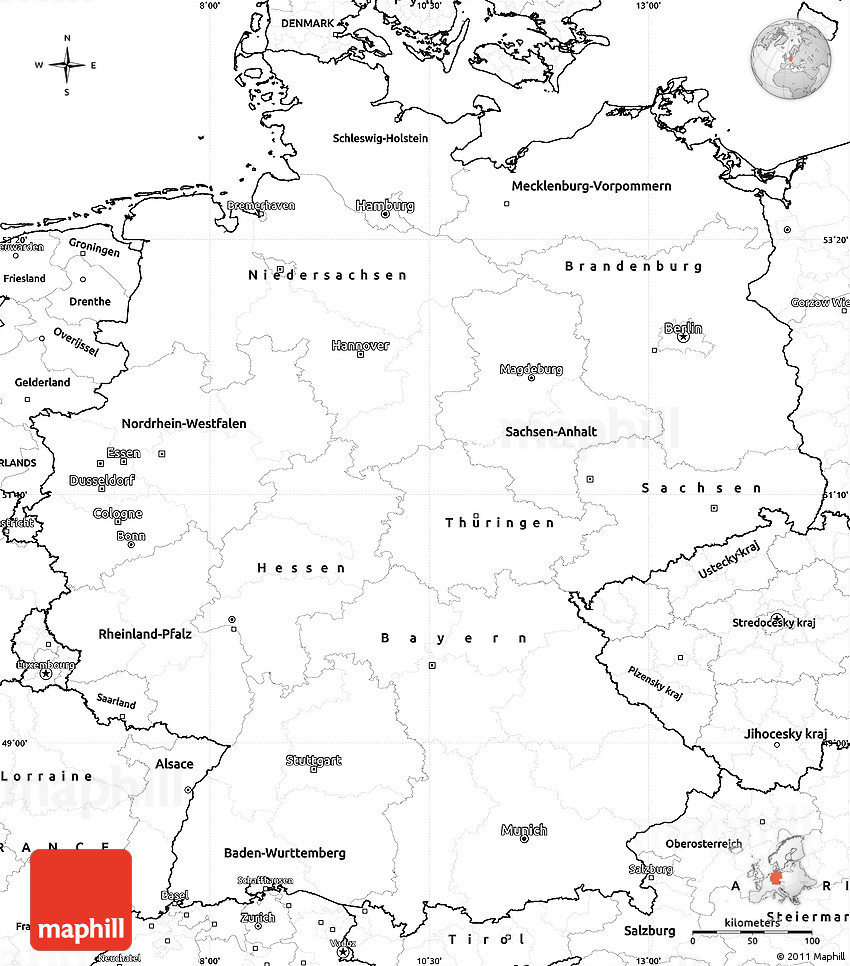 Printable Map Of Germany.Blank Simple Map Of Germany