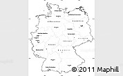 Blank Simple Map of Germany, cropped outside