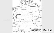 Blank Simple Map of Germany