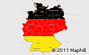 Flag Simple Map of Germany, flag centered