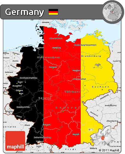 Map Of Germany To Color.Free Flag Simple Map Of Germany Single Color Outside Borders And