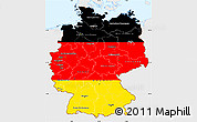 Flag Simple Map of Germany, single color outside