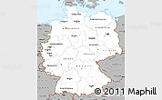 Gray Simple Map of Germany