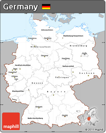 ... Simple Map of Germany, ...