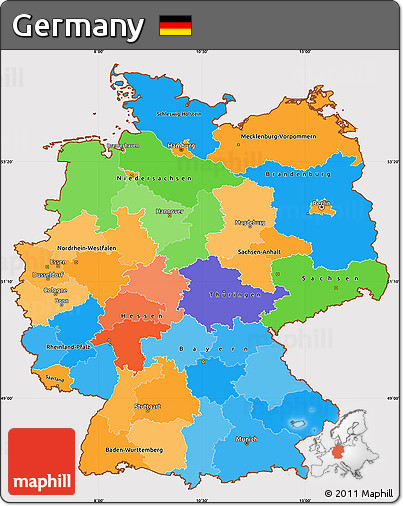 simple map of germany Free Political Simple Map Of Germany Cropped Outside