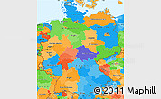Political Simple Map of Germany