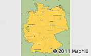 Savanna Style Simple Map of Germany, cropped outside