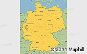 Savanna Style Simple Map of Germany