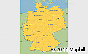 Savanna Style Simple Map of Germany, single color outside