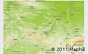 Physical 3D Map of Thüringen