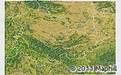 Satellite 3D Map of Thüringen