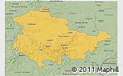 Savanna Style 3D Map of Thüringen