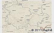 Shaded Relief 3D Map of Thüringen