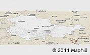 Classic Style Panoramic Map of Thüringen