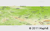 Physical Panoramic Map of Thüringen
