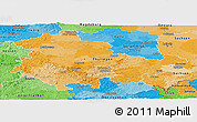 Political Panoramic Map of Thüringen