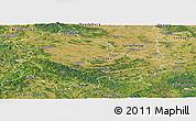 Satellite Panoramic Map of Thüringen