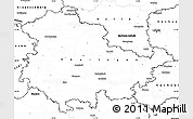 Blank Simple Map of Thüringen