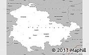 Gray Simple Map of Thüringen