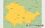 Savanna Style Simple Map of Thüringen