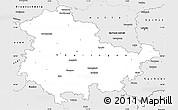 Silver Style Simple Map of Thüringen