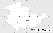 Silver Style Simple Map of Thüringen, single color outside