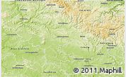 Physical 3D Map of Hildburghausen
