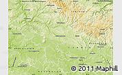 Physical Map of Hildburghausen