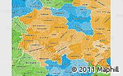 Political Shades Map of Thüringen