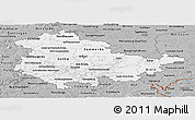 Gray Panoramic Map of Thüringen