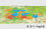 Political Panoramic Map of Thüringen, physical outside