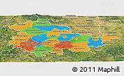 Political Panoramic Map of Thüringen, satellite outside