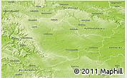 Physical 3D Map of Unstrut-Hainich-Kreis