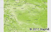 Physical Map of Unstrut-Hainich-Kreis