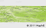 Physical Panoramic Map of Unstrut-Hainich-Kreis