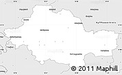 Silver Style Simple Map of Unstrut-Hainich-Kreis