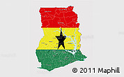 Flag 3D Map of Ghana