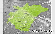 Physical 3D Map of Ashanti, desaturated