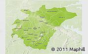 Physical 3D Map of Ashanti, lighten