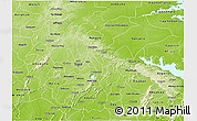 Physical 3D Map of Ashanti