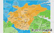 Political Shades 3D Map of Ashanti