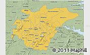 Savanna Style 3D Map of Ashanti